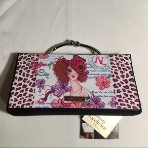 Nicole Lee purse W/silver handle & removable Chain
